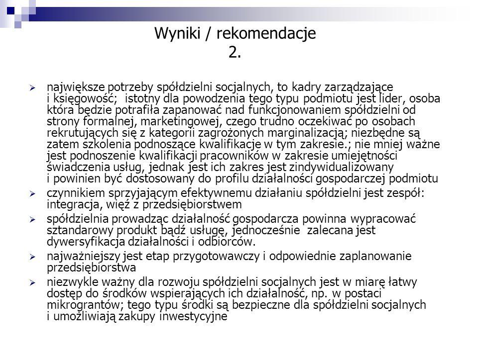 Wyniki / rekomendacje 2.