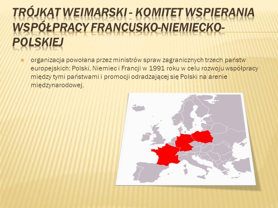 organizacja powołana przez ministrów spraw zagranicznych trzech państw europejskich: Polski, Niemiec i Francji w 1991 roku w celu rozwoju współpracy m
