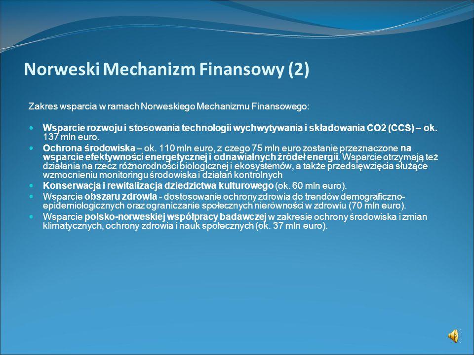 Norweski Mechanizm Finansowy (1) http://www.eog.gov.pl/ Fundusze Państw Europejskiego Obszaru Gospodarczego EOG (ang. European Economic Area, EEA) Nor