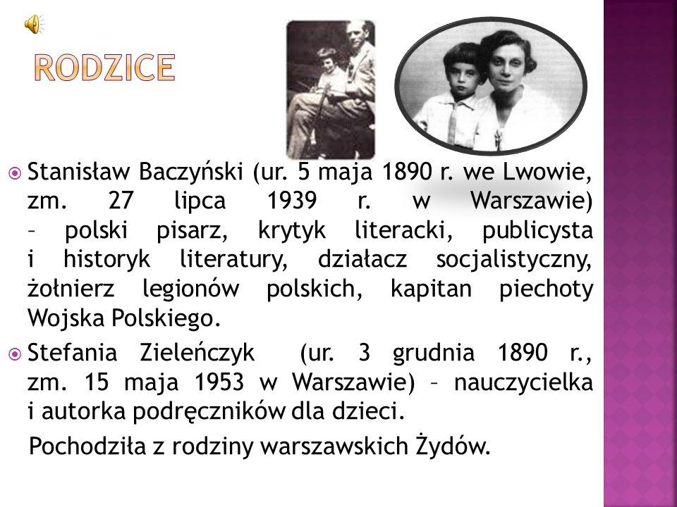 Stanisław Baczyński (ur. 5 maja 1890 r. we Lwowie, zm. 27 lipca 1939 r. w Warszawie) – polski pisarz, krytyk literacki, publicysta i historyk literatu