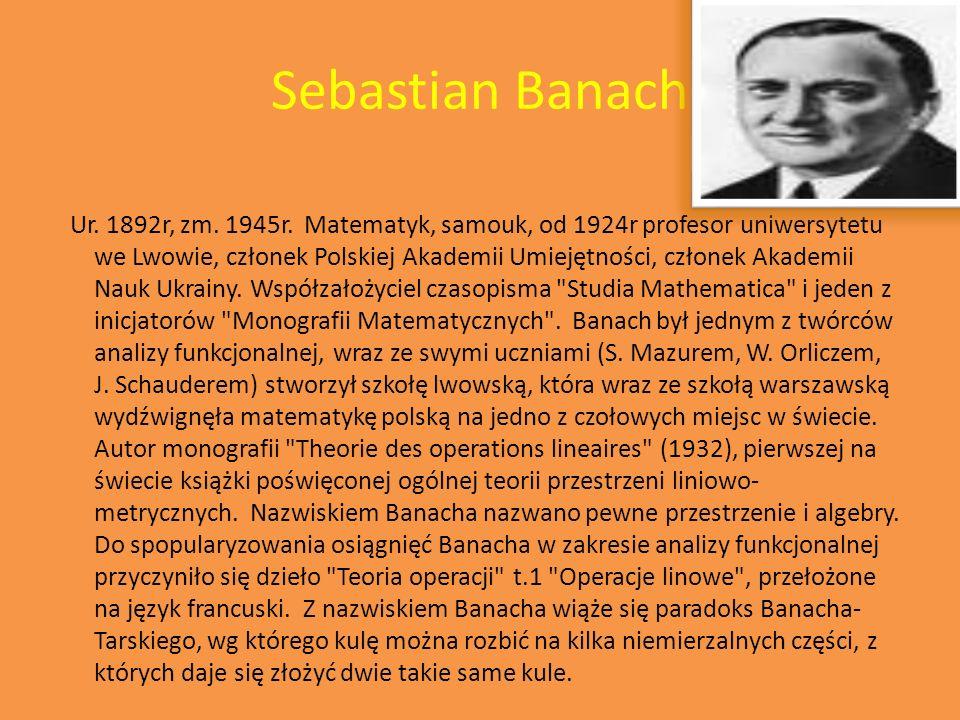 Karol Borsuk Ur.1905r, zm. 1982r.