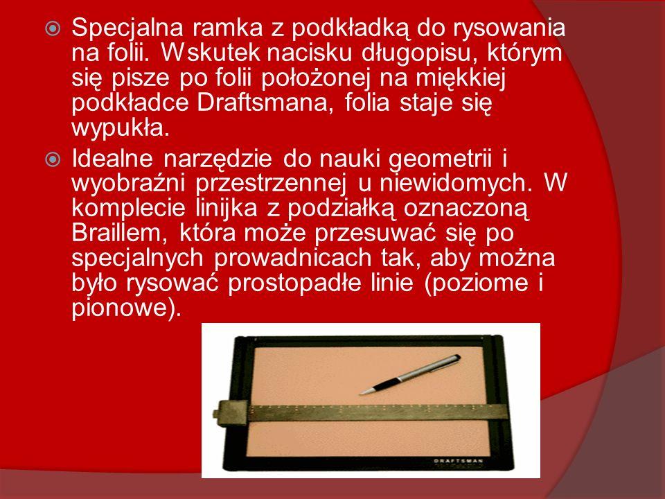 Specjalna ramka z podkładką do rysowania na folii. Wskutek nacisku długopisu, którym się pisze po folii położonej na miękkiej podkładce Draftsmana, fo