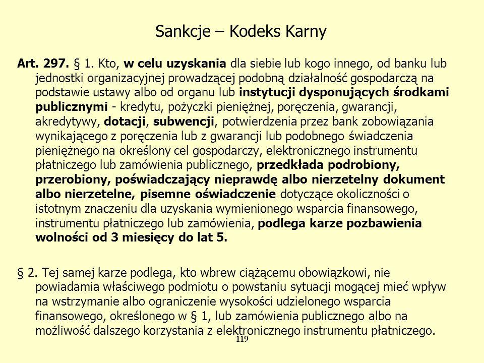Sankcje – Ustawa o finansach publicznych z 30.VI.2005 Art.