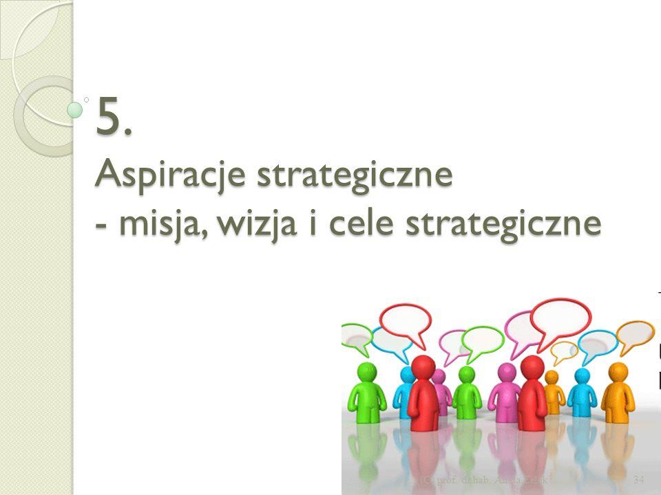 Proces budowy strategii w podejściu inkrementalnym – emergentnym 33(C) prof. dr hab. Aneta Zelek Misja, wizja, cele Analiza strategiczna Wdrożenie i r