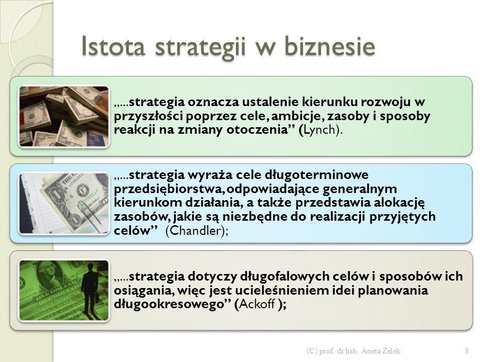 Istota strategii w biznesie 8(C) prof.dr hab.