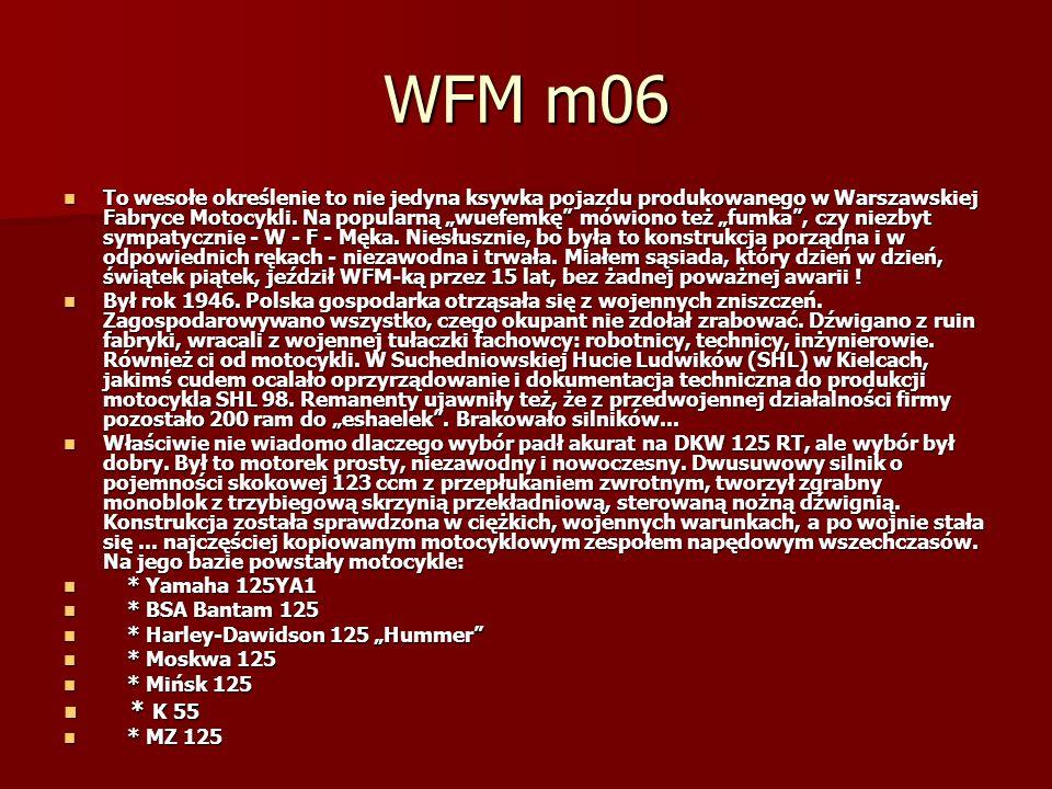 WFM m06 To wesołe określenie to nie jedyna ksywka pojazdu produkowanego w Warszawskiej Fabryce Motocykli.