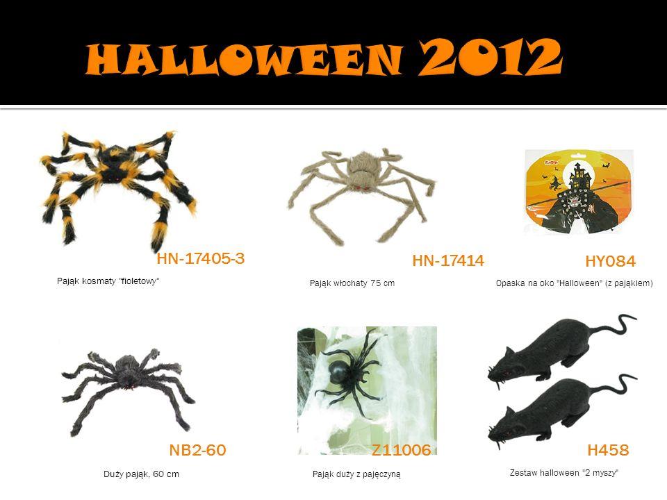 Pająk włochaty 75 cmOpaska na oko Halloween (z pająkiem) Duży pająk, 60 cm Pająk duży z pajęczyną Zestaw halloween 2 myszy HN-17405-3 HN-17414 HY084 H458 Pająk kosmaty fioletowy NB2-60Z11006