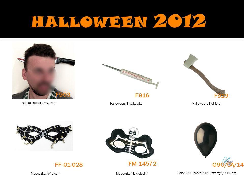 Halloween: StrzykawkaHalloween: Siekiera Maseczka W sieci Maseczka Szkielecik Balon G90 pastel 10 - czarny / 100 szt.