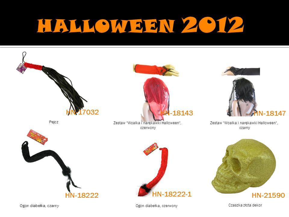 Zestaw Woalka i narękawki Halloween , czerwony Zestaw Woalka i narękawki Halloween , czarny Ogon diabełka, czarny Ogon diabełka, czerwony Czaszka złota dekor HN-17032 HN-18143 HN-18147 HN-21590 Pejcz HN-18222 HN-18222-1