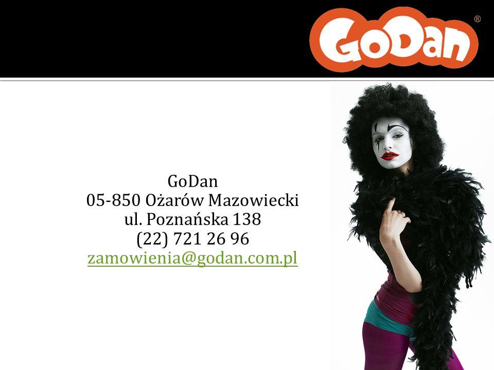GoDan 05-850 Ożarów Mazowiecki ul. Poznańska 138 (22) 721 26 96 zamowienia@godan.com.pl