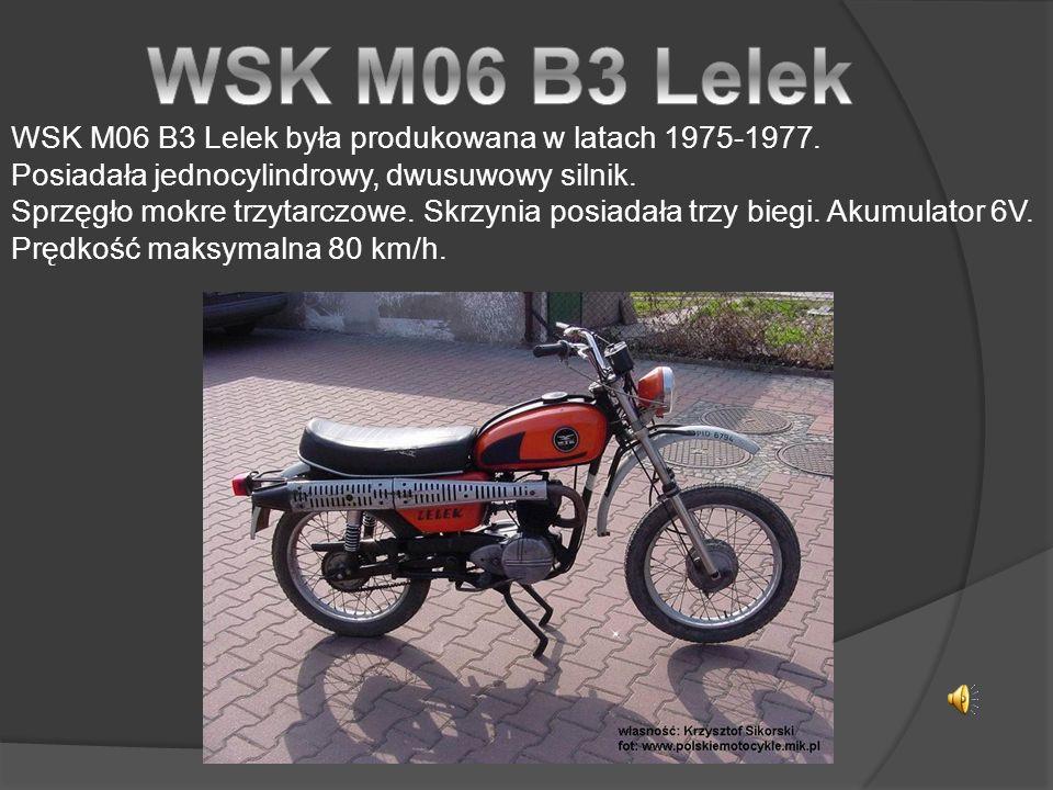 WSK M06 B3 Lelek była produkowana w latach 1975-1977.