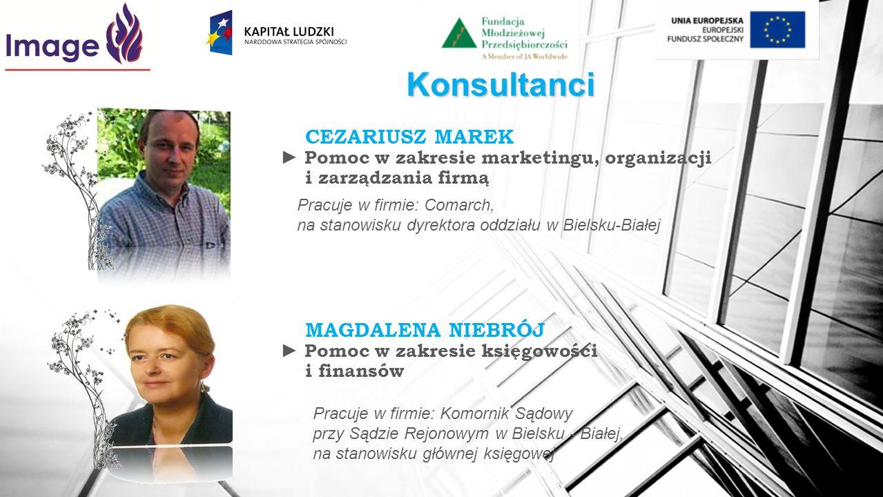Konsultanci CEZARIUSZ MAREK Pomoc w zakresie marketingu, organizacji i zarządzania firmą Pracuje w firmie: Comarch, na stanowisku dyrektora oddziału w