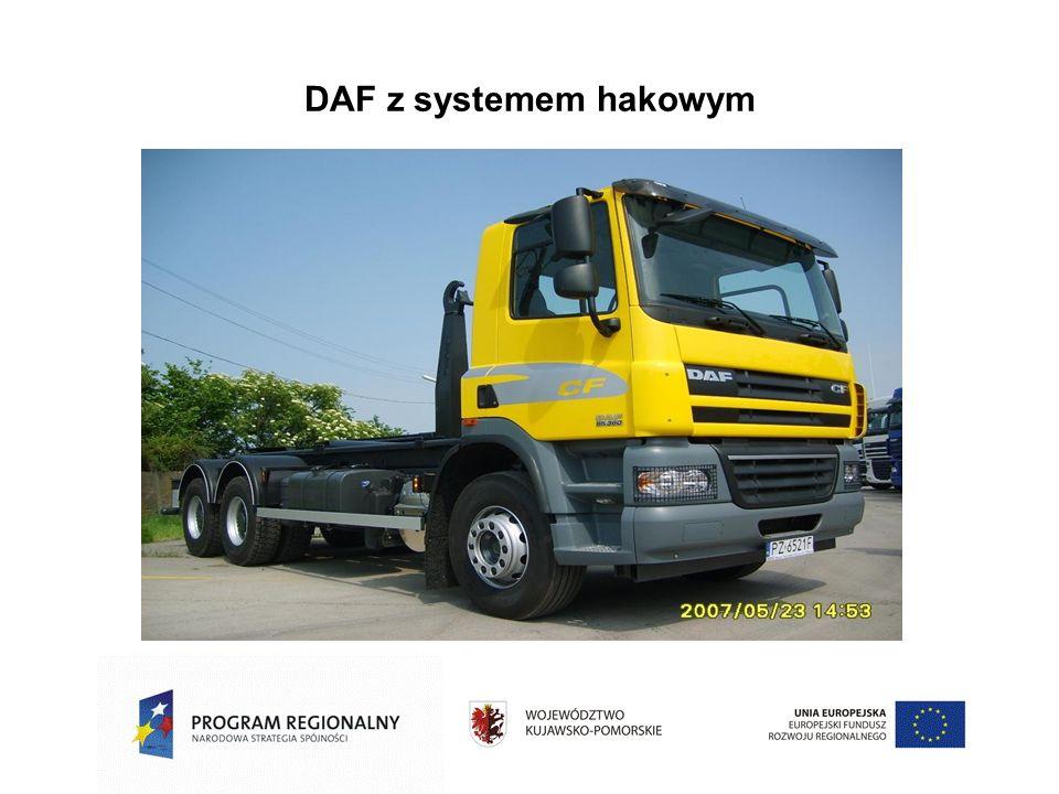 DAF z systemem hakowym