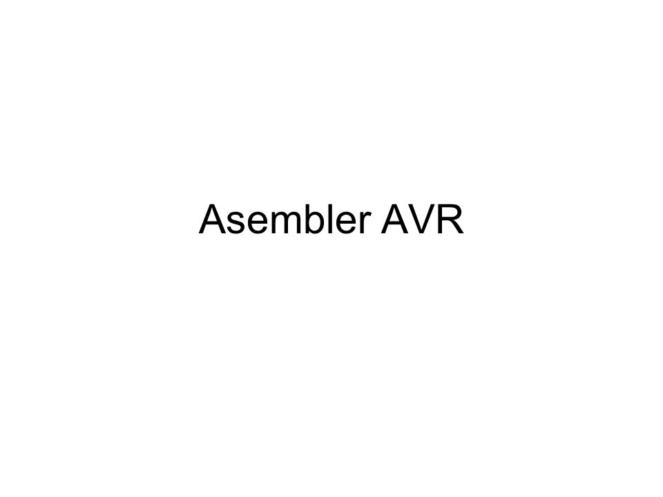 Asembler AVR