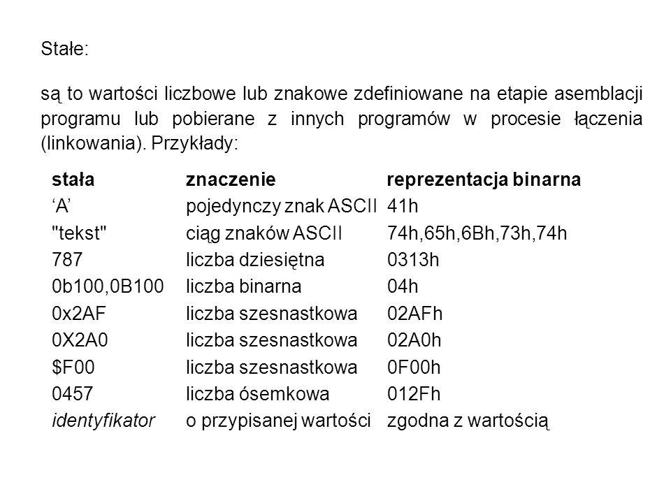 Pozostałe dyrektywy asemblera - makroasemblacja