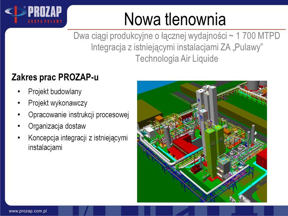 Projekt budowlany Projekt wykonawczy Opracowanie instrukcji procesowej Organizacja dostaw Koncepcja integracji z istniejącymi instalacjami Zakres prac