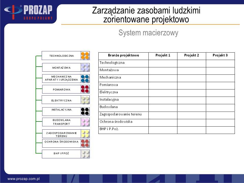 Zarządzanie zasobami ludzkimi zorientowane projektowo System macierzowy
