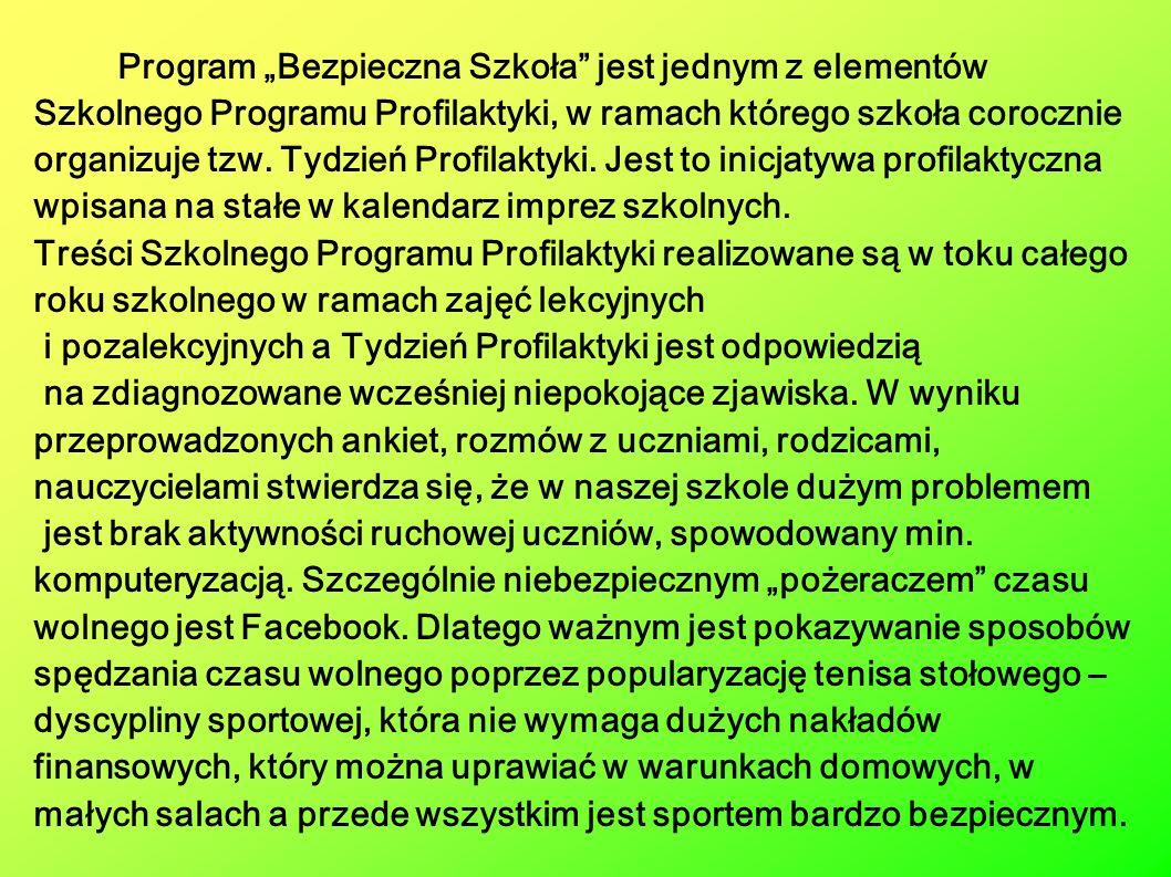 Tydzień Profilaktyki zaplanowano w terminie od 30.01.2012 roku do 3.02.2012 roku.