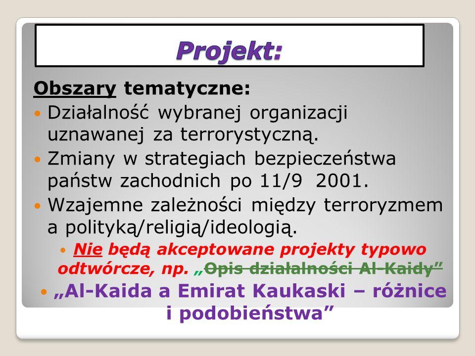 Składowe zaliczenia projektu: 1.