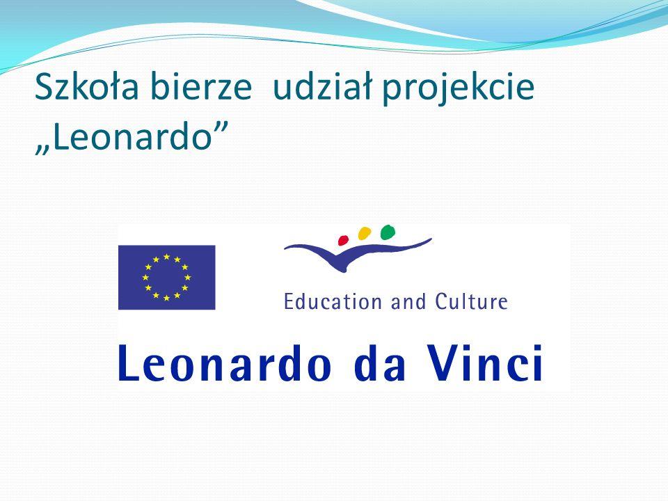 Szkoła bierze udział projekcie Leonardo