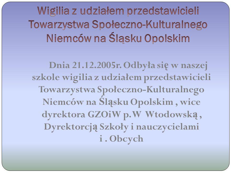 Dnia 13-19.05.2008 roku ponownie młodzie ż z Nadwórnej go ś ci w PG 1 w Prudniku.