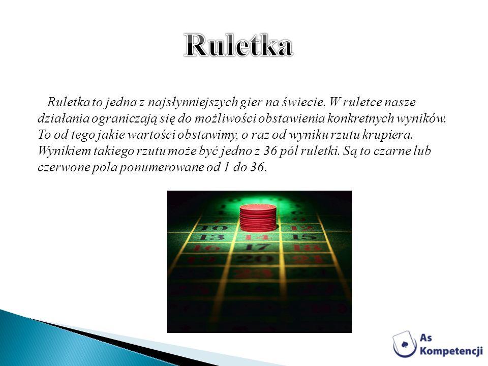 Ruletka to jedna z najsłynniejszych gier na świecie. W ruletce nasze działania ograniczają się do możliwości obstawienia konkretnych wyników. To od te