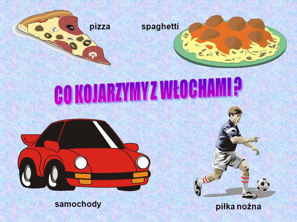 pizza spaghetti samochody piłka nożna