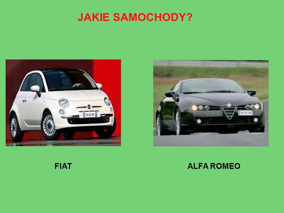 JAKIE SAMOCHODY? FIATALFA ROMEO