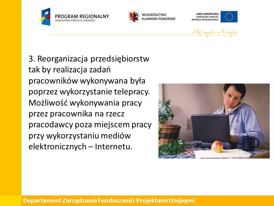 Departament Zarządzania Funduszami i Projektami Unijnymi 3.