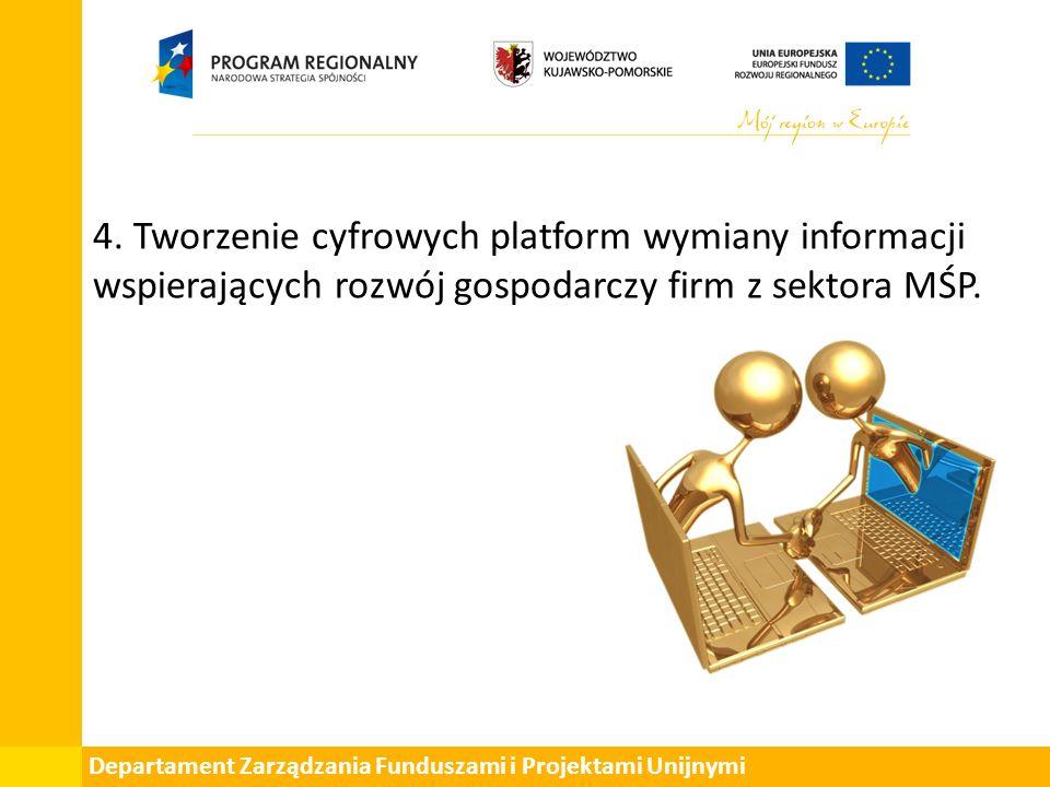 Departament Zarządzania Funduszami i Projektami Unijnymi 4.
