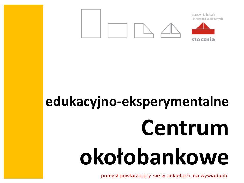 edukacyjno-eksperymentalne Centrum okołobankowe pomysł powtarzający się w ankietach, na wywiadach