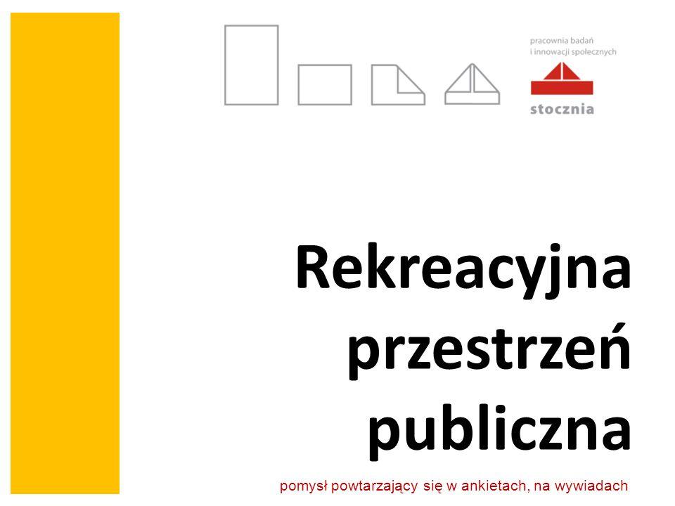 Rekreacyjna przestrzeń publiczna pomysł powtarzający się w ankietach, na wywiadach