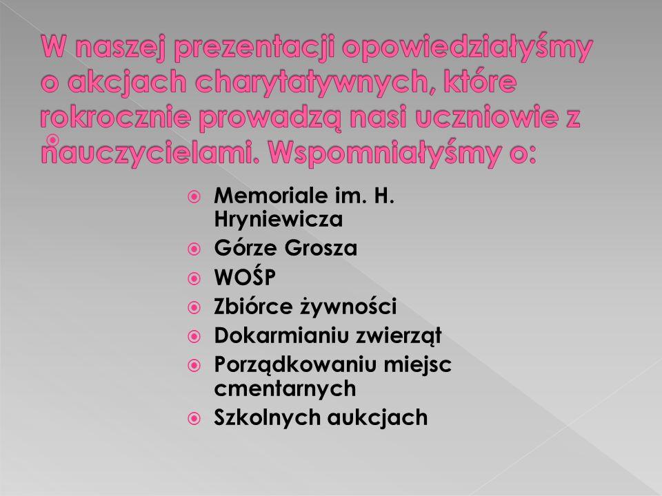 Memoriale im.H.