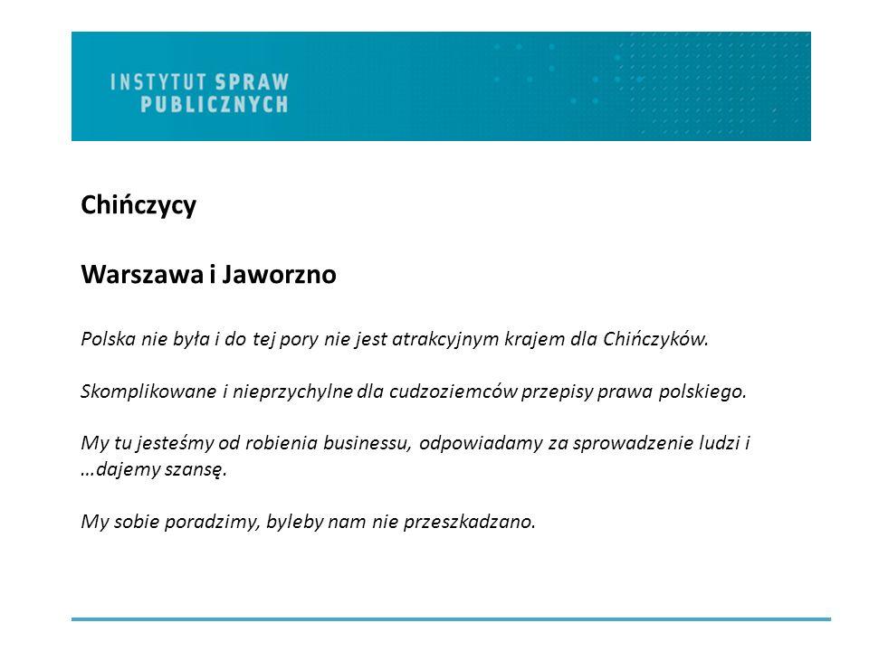 Chińczycy Warszawa i Jaworzno Polska nie była i do tej pory nie jest atrakcyjnym krajem dla Chińczyków.