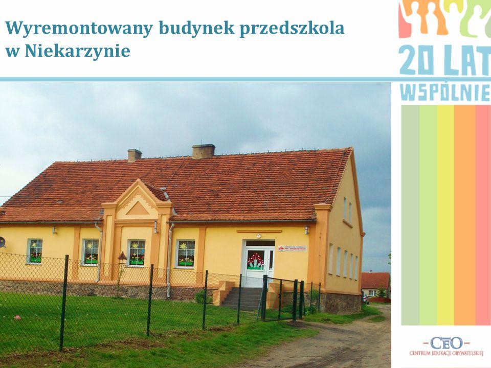 Wyremontowany budynek przedszkola w Niekarzynie