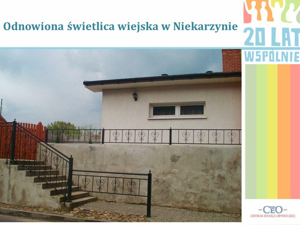 Odnowiona świetlica wiejska w Niekarzynie