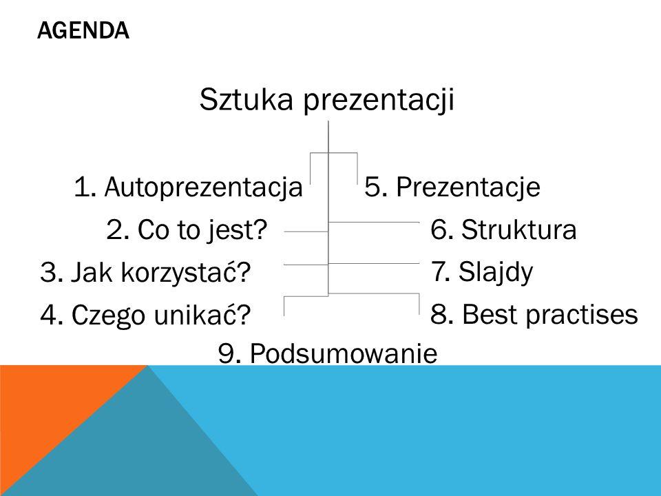 AGENDA 1.Autoprezentacja 2. Co to jest. 3. Jak korzystać.