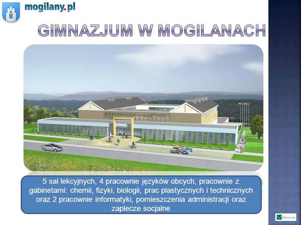 5 sal lekcyjnych, 4 pracownie języków obcych, pracownie z gabinetami: chemii, fizyki, biologii, prac plastycznych i technicznych oraz 2 pracownie info