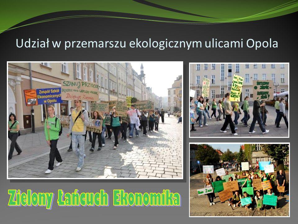 Udział w przemarszu ekologicznym ulicami Opola