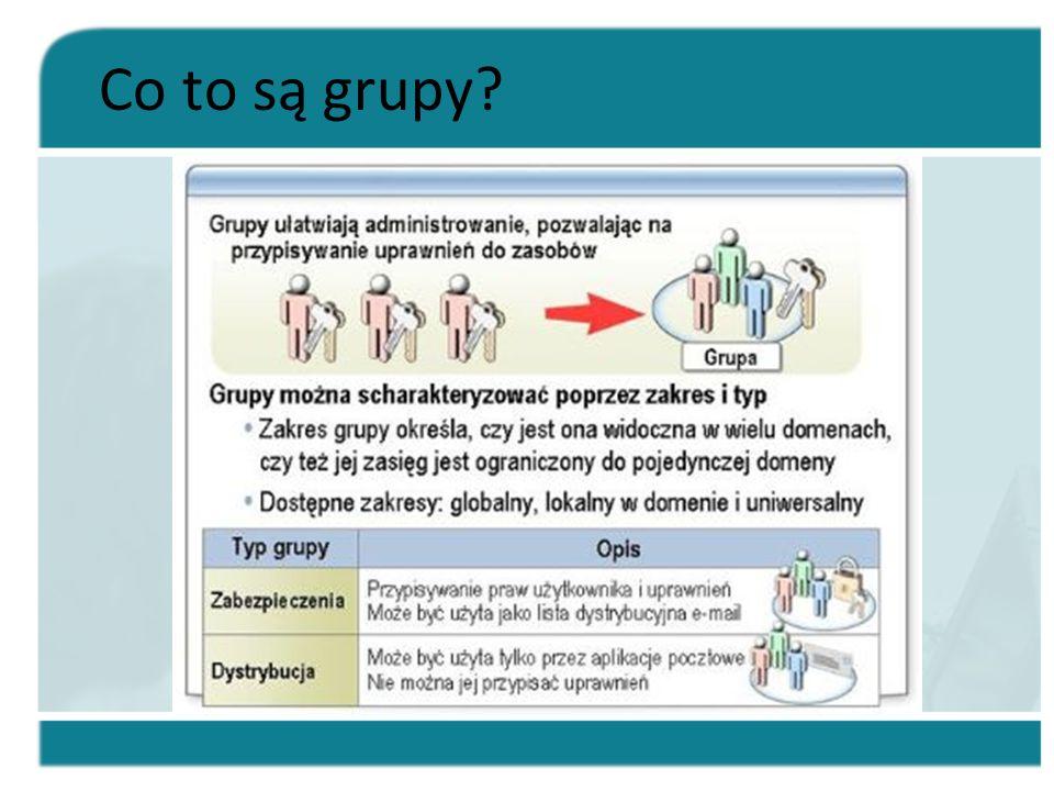 Lekcja: Modyfikowanie grup Modyfikowanie zakresu lub typu grupy W jaki sposób zmienić zakres lub typ.