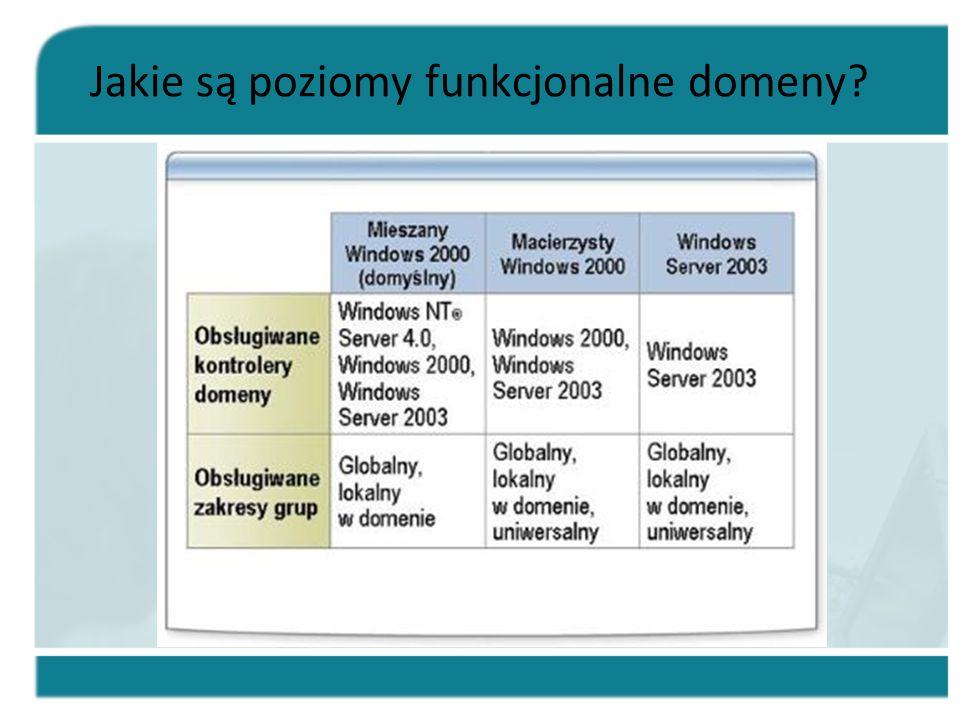 Jakie są poziomy funkcjonalne domeny?