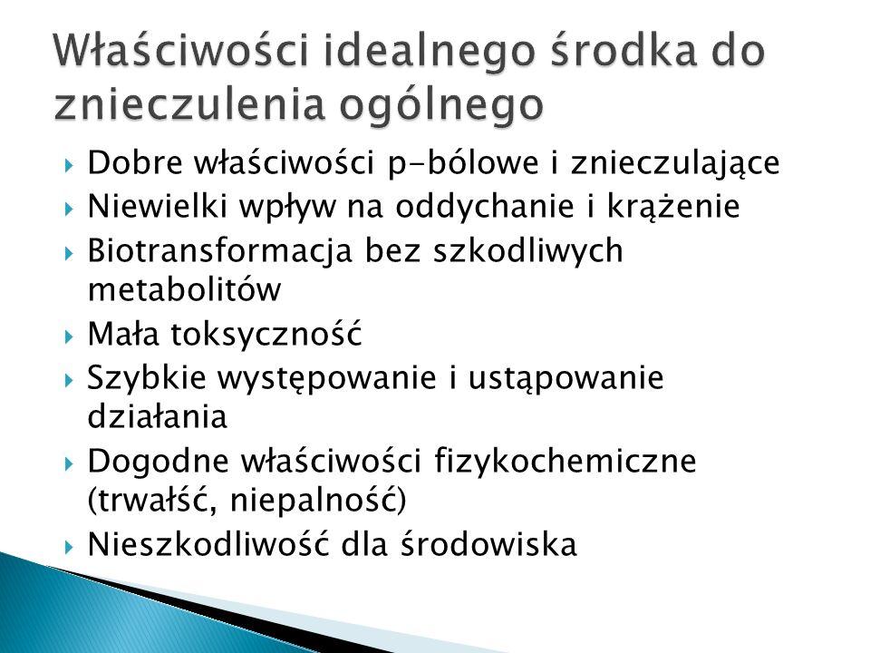 1.Wziwne anastetyki np. Halotan Izofluran Podtlenek azotu 2.
