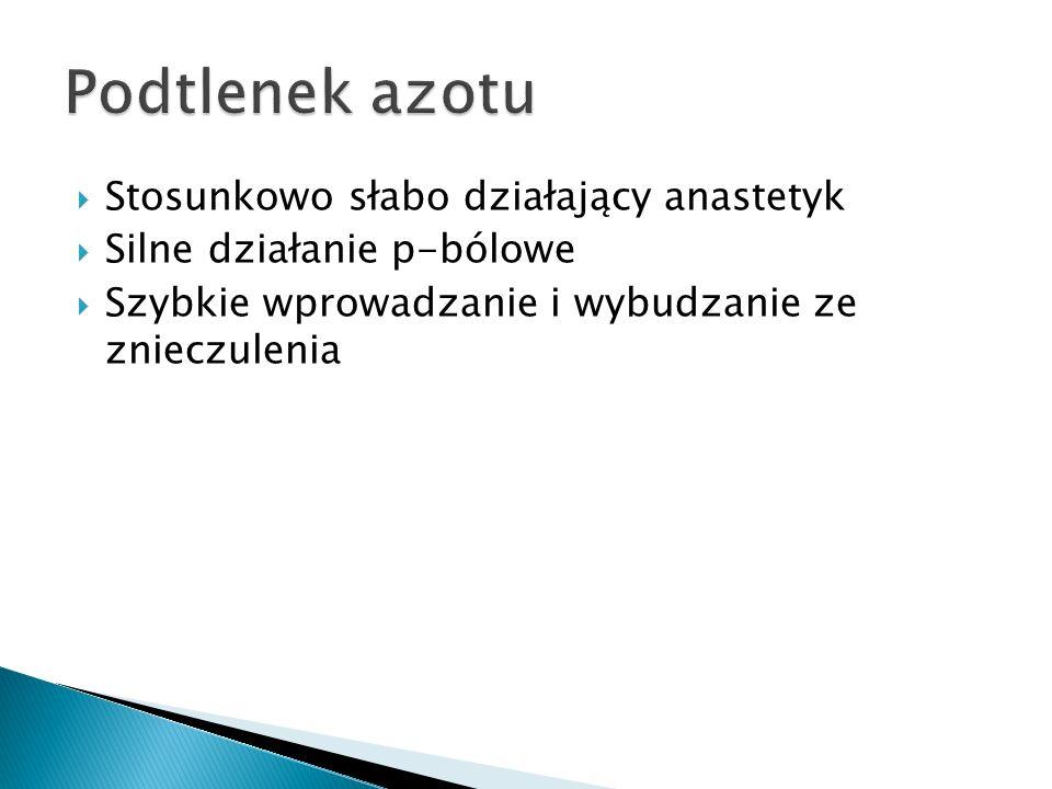 Lek z grupy benzodiazepin Stosowany w premedykacji i wprowadzaniu do znieczulenia (głupi jaś) Krótkie działanie Może być stosowan u dzieci