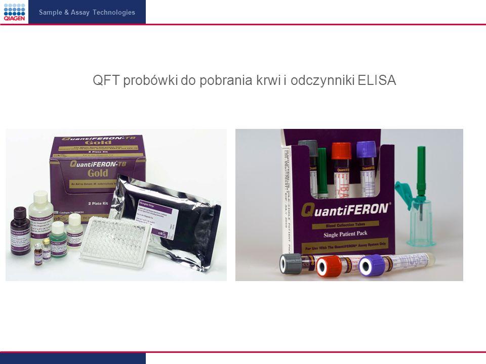 Sample & Assay Technologies QFT probówki do pobrania krwi i odczynniki ELISA