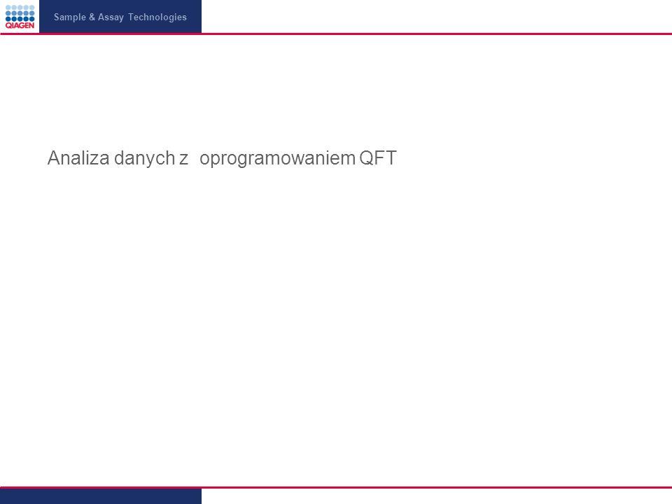 Sample & Assay Technologies Analiza danych z oprogramowaniem QFT