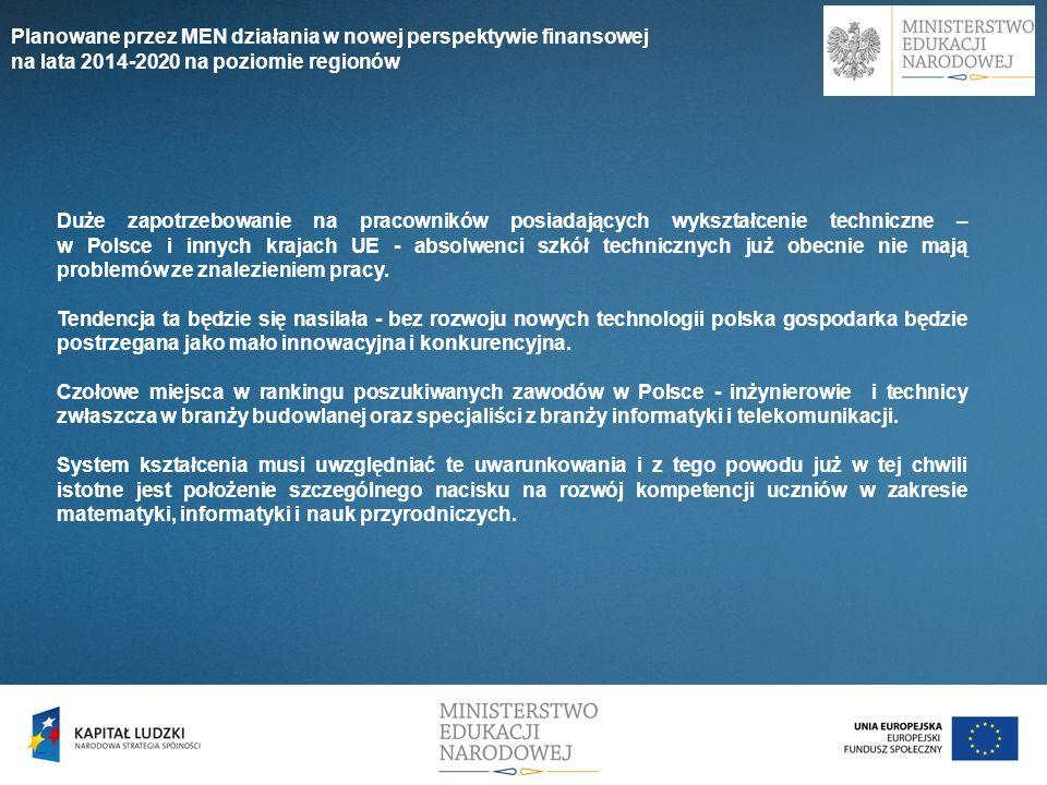 Duże zapotrzebowanie na pracowników posiadających wykształcenie techniczne – w Polsce i innych krajach UE - absolwenci szkół technicznych już obecnie