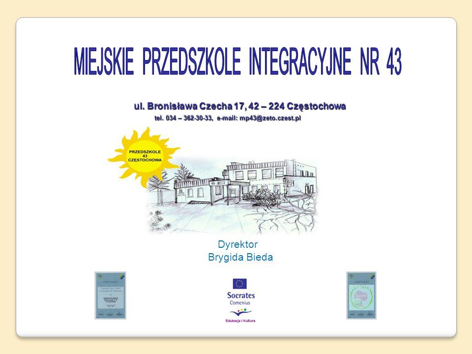Dyrektor Brygida Bieda ul. Bronisława Czecha 17, 42 – 224 Częstochowa ul. Bronisława Czecha 17, 42 – 224 Częstochowa tel. 034 – 362-30-33, e-mail: mp4