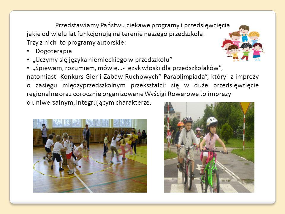 Przedstawiamy Państwu ciekawe programy i przedsięwzięcia jakie od wielu lat funkcjonują na terenie naszego przedszkola. Trzy z nich to programy autors