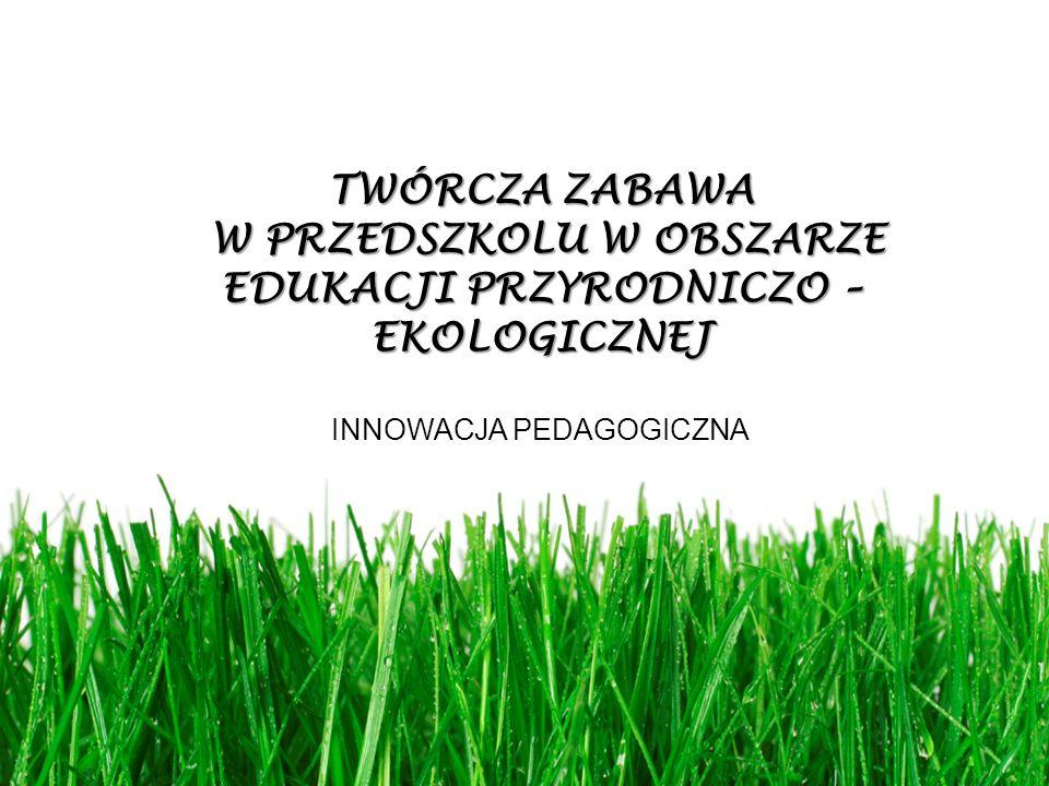 TWÓRCZA ZABAWA W PRZEDSZKOLU W OBSZARZE EDUKACJI PRZYRODNICZO – EKOLOGICZNEJ W PRZEDSZKOLU W OBSZARZE EDUKACJI PRZYRODNICZO – EKOLOGICZNEJ INNOWACJA P