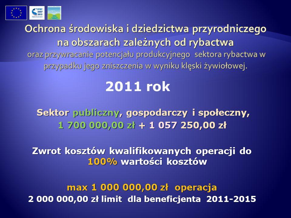 Sektor publiczny, gospodarczy i społeczny, Sektor publiczny, gospodarczy i społeczny, 1 700 000,00 zł + 1 057 250,00 zł Zwrot kosztów kwalifikowanych